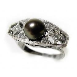 Prsten s tahitskou perlou a...