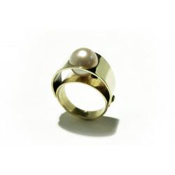 Prsten s bílou perlou (Psp02)