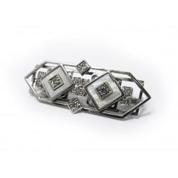 Brož s diamanty a perletí...